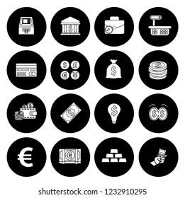 Money Icons, Money cash icons set - banking investment sign and symbols