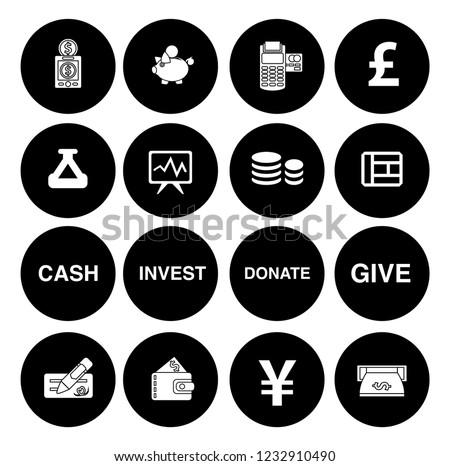 Money Icons Money Cash Icons Set Stock Vector Royalty Free