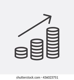 Money increase Icon