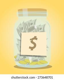 Money jar background