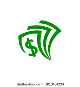 Money Logo Design. Money Logo Vector. Money Logo.  Illustrative design for the concepts of money, wealth, investment and finance. Template Ready to Use.