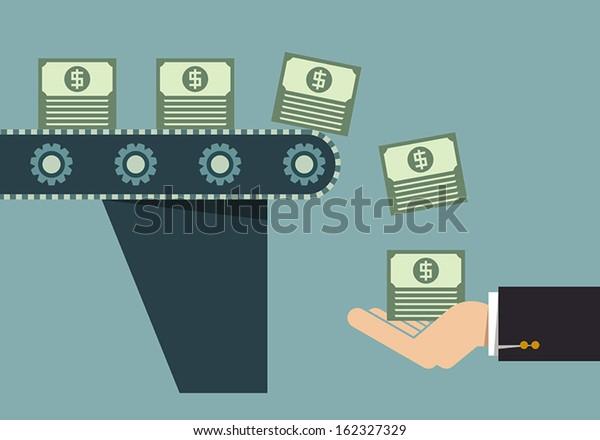 Máquina de hacer dinero, idea de negocios