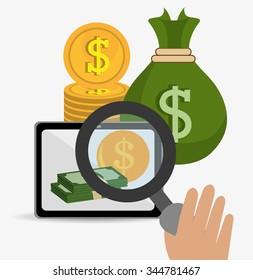 Money online payment graphic design, vector illustration eps10