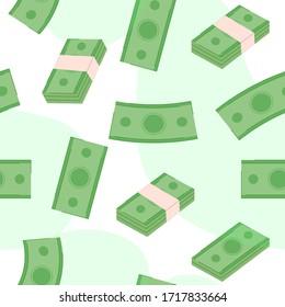 Money pattern background vector illustration cartoon flat design