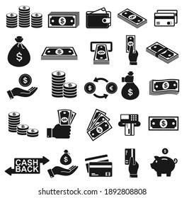 Money and payment icon, symbol isolated on white background,  vector Illustration