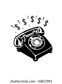Money Phone - Retro Clip Art