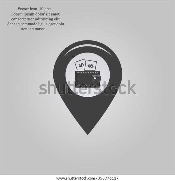 money pin business concept vector illustration