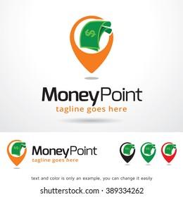 Money Point Logo Template Design Vector