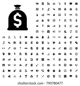 Money sack icon illustration isolated vector sign symbol. editable company icons vector set.