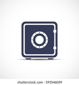 Money safe box vector eps icon illustration on white background