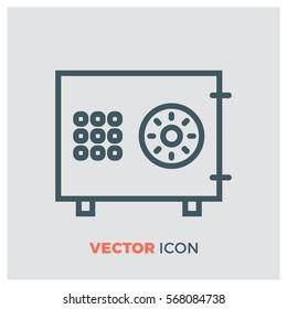 money safe line vector icon
