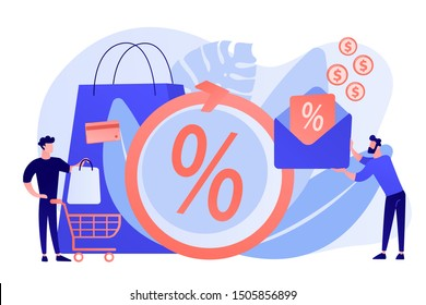 Money saving. Cashback service. Cost transfer. Online payment and reward. Rebate program, mail-in rebate method, make your money back concept. Bright vibrant violet vector isolated illustration