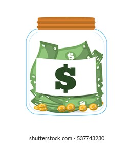 money saving money glass vector illustration eps 10