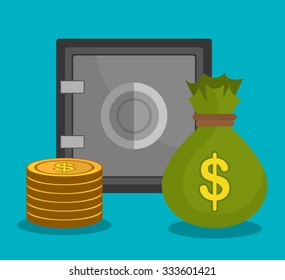 Money savings and business design, vector illustration graphic