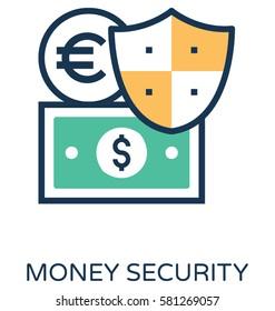 Money Security Vector Icon