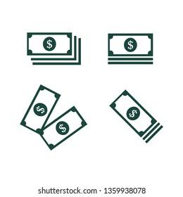 money set icon vector