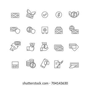 Money set icons,Vector