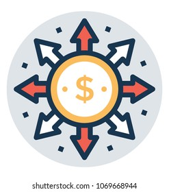 Money spending icon, Affiliate Marketing Vector Illustration