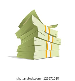 money stack vector illustration. isolated
