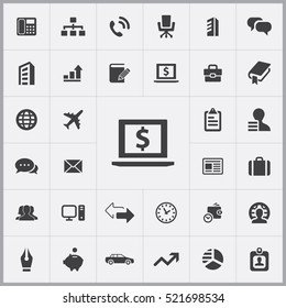 money stock market icon. company icons universal set for web and mobile
