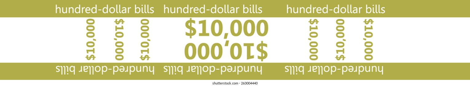 photo about Printable Currency Straps identify 1 Hundred Thousand Greenback Photos, Inventory Pics Vectors