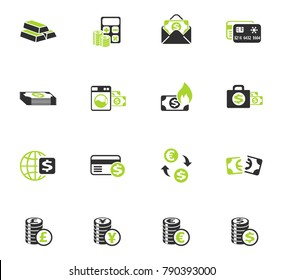 money symbols color vector icons for web and user interface design