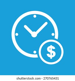 Money time icon. Earn time icon blue isolated vector illustration