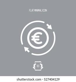 Money trade flat icon - Euro