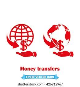 Money transfer icon vector illustration eps10.
