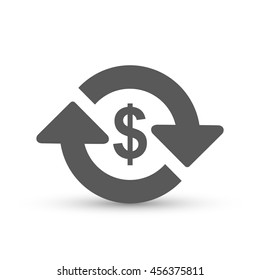 Money transfer Icon vector isolated on white background, for your design, logo, application, UI