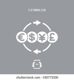 Money transfer services - Minimal icon