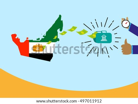 Pleasant Money Transferring Uae Recipient Abroad Received Stock Vector Wiring 101 Olytiaxxcnl