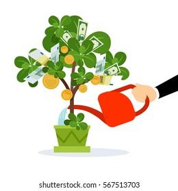 money tree images stock photos vectors shutterstock rh shutterstock com Stacks of Money Clip Art Money Bag Clip Art