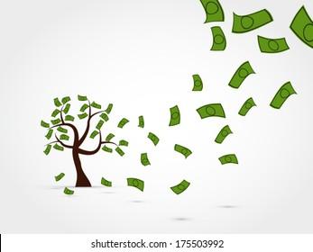 Money tree vector background
