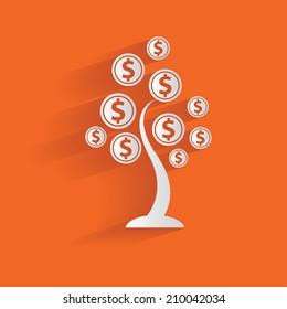 Money tree,clean vector