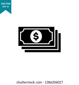 money vector icon in trendy flat style