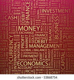 MONEY. Word collage. Vector illustration.