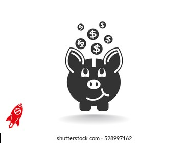 moneybox icon vector.
