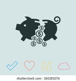 Moneybox vector icon.