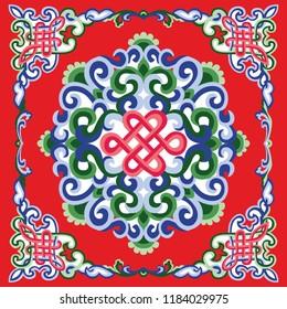 Mongolia ornament vector