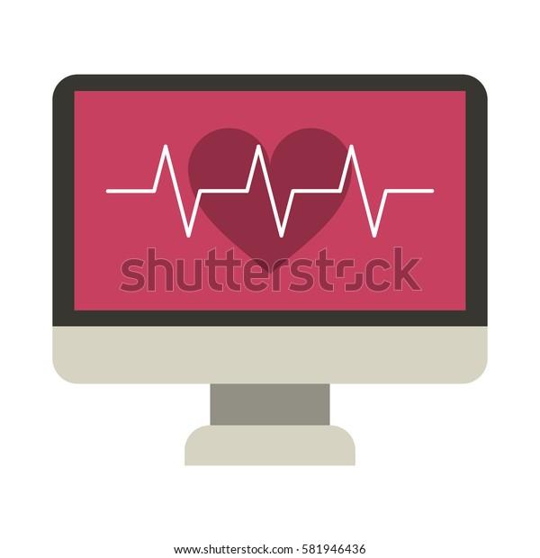 monitor heartbeat cardiology rhythm