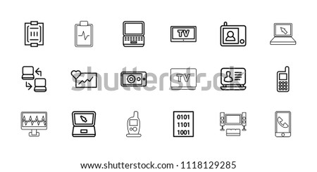 ec9766473 Monitor Icon Collection 18 Monitor Outline Stock Vector (Royalty ...