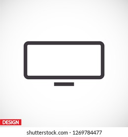 monitor icon vector 10 eps