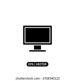 Monitor icon vector illustration logo template for many purpose. Isolated on white background.
