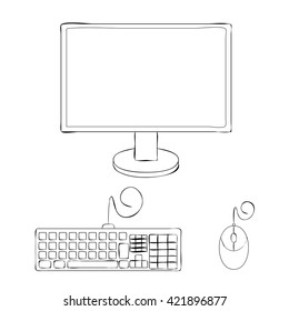 Computer Keyboard Drawing Images Stock Photos Vectors Shutterstock