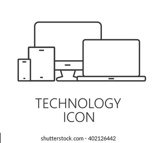 Monitor, phone, tablet icon