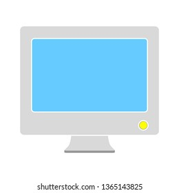 monitor screen, vector illustration, desktop computer, front view