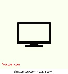 monitor vector icon, Vector EPS 10 illustration style