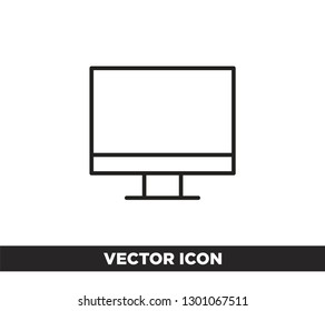 monitor vector icon, Vector EPS 10 illustration