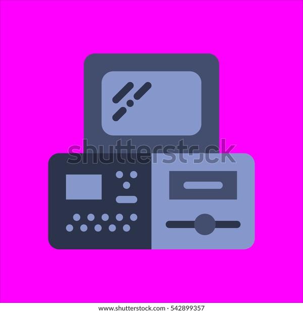 monitors icon flat disign